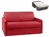 Schlafsofa 2-Sitzer CALIFE - Rot - Liegefläche: 120 cm - Matratzenhöhe: 22cm