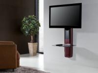 TV-Möbel Wandhalterung Candela - Rot & Schwarz