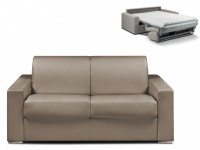 Schlafsofa 2-Sitzer CALITO - Taupe - Liegefläche: 120 cm - Matratzenhöhe: 14cm