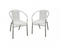 Gartenstuhl 2er-Set Fizz - Weiß