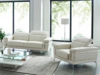Couchgarnitur 3+1 HIPPOLYTE - Weiß