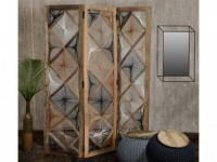 Paravent Raumteiler TANGER - Holz massiv - 150x183 cm