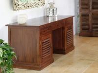 Schreibtisch Sekretär Holz massiv Bali II