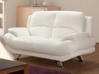 Sofa 2-Sitzer MUSKO - Weiß