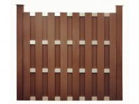 Gartenzaun Sichtschutz CUYABA - 180x180 cm - Braun