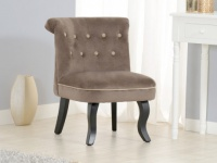 Sessel Stoff EXETER - Braun/Beige