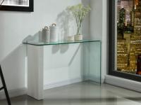 Wandkonsole Glas MANDY - Weiß