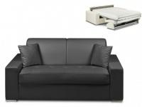 Schlafsofa 2-Sitzer EMIR - Schwarz - Liegefläche: 120cm - Matratzenhöhe: 18cm
