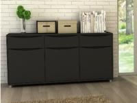Sideboard Sorriso - 3 Türen & 3 Schubladen- Schwarz