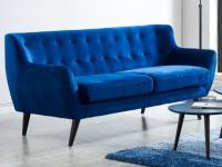 3-Sitzer-Sofa Samt SERTI - Blau