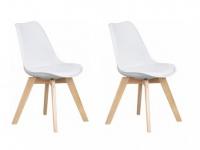 Stuhl 2er-Set Paddy - Weiß