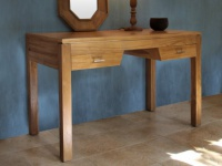 Schreibtisch Holz massiv Talang II - Naturfarben