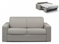 Schlafsofa 2-Sitzer Stoff CALITO - Grau - Liegefläche: 120 cm - Matratzenhöhe: 14cm