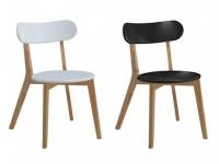 Stuhl 2er-Set Holz massiv COLETTE - Schwarz