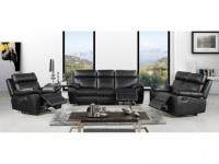 Couchgarnitur 3+2+1 Relax WIGAN - Schwarz