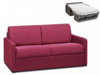 Schlafsofa 2-Sitzer Stoff CALIFE - Fuchsia - Liegefläche: 120 cm - Matratzenhöhe: 22cm