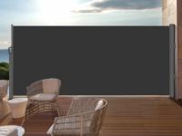 Terrassen-Sichtschutz Polyester SUELA - Ausziehbar - 300x180 cm - Anthrazit