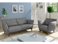 Couchgarnitur 3+1 Stoff Luanda - Grau