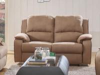 Relaxsofa Microfaser 2-Sitzer Herna - Braun