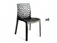Stuhl 6er-Sets Diadem - Kunststoff - Anthrazit