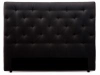 Kopfteil Bett gepolstert Enza - Breite: 162 cm - Schwarz