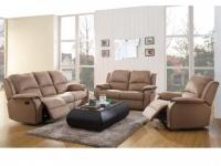 Couchgarnitur Relax Microfaser 3+2+1 Herna - Braun