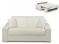 Schlafsofa 2-Sitzer EMIR - Weiß - Liegefläche: 120cm - Matratzenhöhe: 18cm