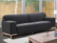 3-Sitzer-Sofa Stoff Obrian - Anthrazit
