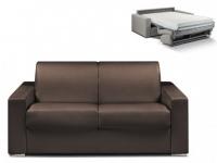 Schlafsofa 2-Sitzer CALITO - Braun - Liegefläche: 120 cm - Matratzenhöhe: 18cm