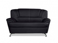 2-Sitzer-Sofa Focus - Schwarz