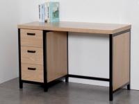 Schreibtisch mit Stauraum MORANA - 3 Schubladen