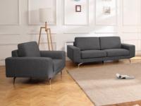 Couchgarnitur Stoff 3+1 ALBURY