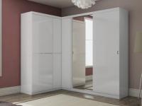 Eck-Kleiderschrank mit Spiegel OLOF