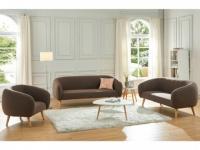 Couchgarnitur 3+2+1 Stoff PENNY - Braun