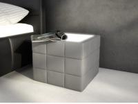 Tisch Sitzhocker LED Elyo - Grau