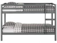 Etagenbett Massivholz ANICET - Grau - 2x90x200cm