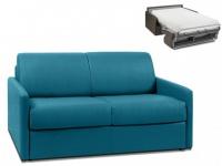 Schlafsofa 2-Sitzer Stoff CALIFE - Türkis - Liegefläche: 120 cm - Matratzenhöhe: 22cm