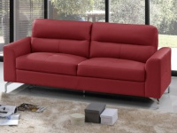3-Sitzer Ledersofa EDORI - Rot
