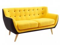 2-Sitzer-Sofa Stoff Serti - Gelb & Grau