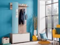 Garderobe ALADEO - 1 Tür & 1 Spiegel