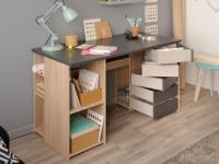 Schreibtisch mit Stauraum NELLY - 5 drehbare Schubladen