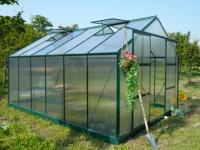 Garten Gewächshaus Aluminium Kalida - 13 m² - Grün