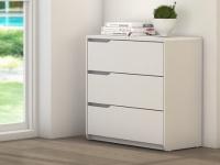 Kommode LUCILE - 3 Schubladen - Weiß