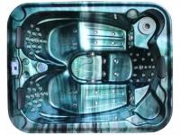 LED-Whirlpool Spa Fidji II - 3 Plätze - Grün