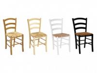 Stuhl 6er-Set Holz massiv Paysanne - Weiß