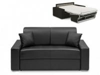 Schlafsofa 2-Sitzer EMIR - Schwarz - Liegefläche: 120cm - Matratzenhöhe: 22cm