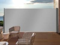 Terrassen-Sichtschutz Polyester SUELA - Ausziehbar - 300x180 cm - Hellgrau