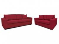 Couchgarnitur Stoff Yudo 3+2 - Rot