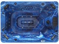 LED-Whirlpool Spa Cyrius - 6-8 Plätze - Blau