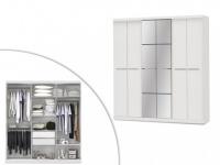 Kleiderschrank Wilhem - 6 Türen - Weiß